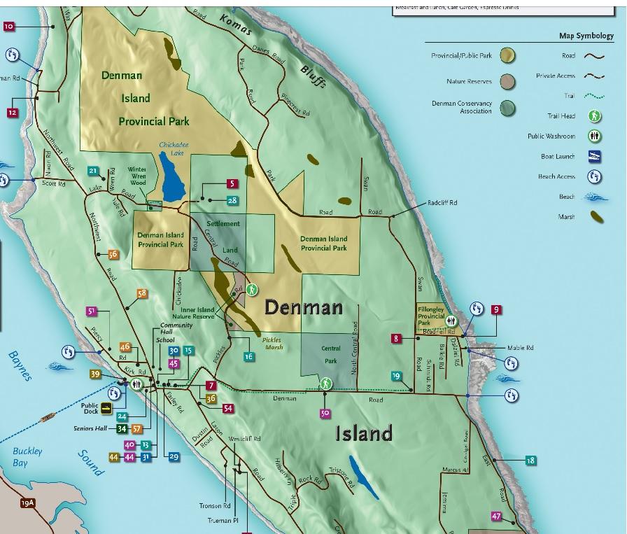 Map Of Denman Island Calendar and Community | Denman Job Board